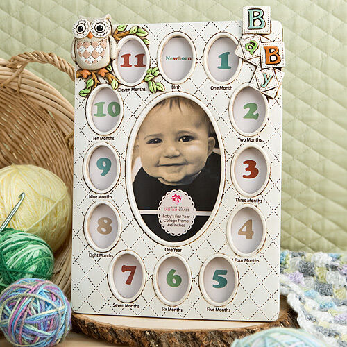 Baby First Year Collage Picture Photo Frame 1st Birthday 13 Photos