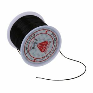 60m-Stretchy-Elastic-Crystal-String-Cord-Thread-For-Jewelry-Making-Black-O8U3