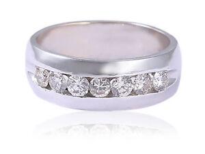 0-97-Carats-Runde-Brilliant-Cut-Diamanten-Jahrestag-Herren-Ring-In-585-14K-Gold