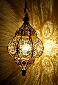 Modern Diwali Hanging Lamps Gold Moroccan Ceiling Light Home Decor