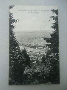 Ansichtskarte Durchblick von Wirtschaft Königstuhl bei Heidelberg 1909 - Eggenstein-Leopoldshafen, Deutschland - Ansichtskarte Durchblick von Wirtschaft Königstuhl bei Heidelberg 1909 - Eggenstein-Leopoldshafen, Deutschland