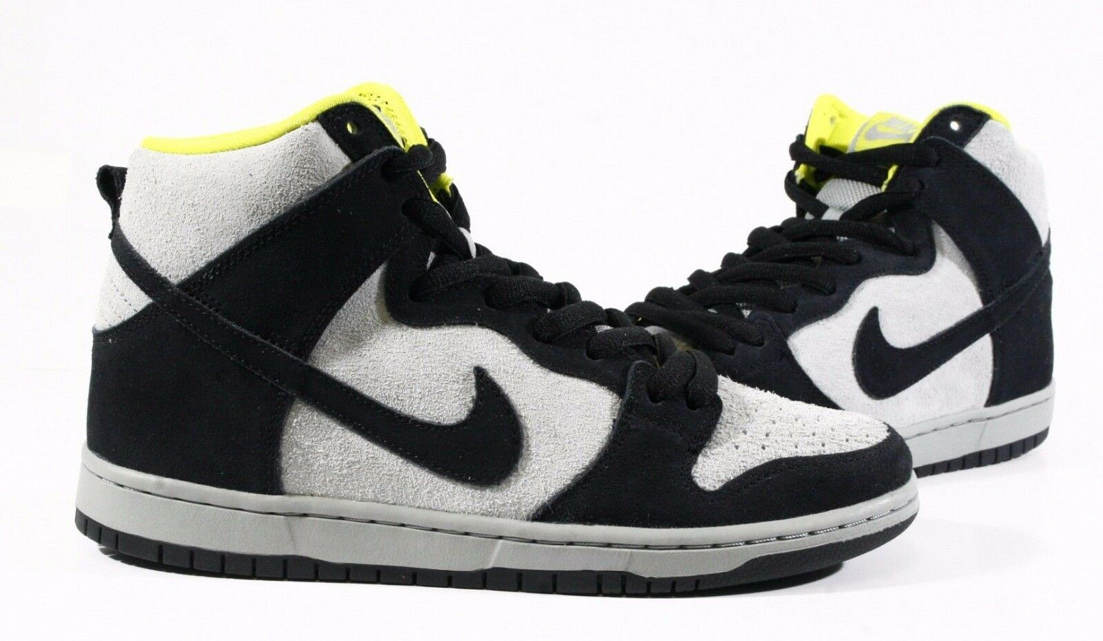 Nike Men's Shoes SB Dunk High Pro Black Base Grey Venom Green DS 305050-017  Casual wild