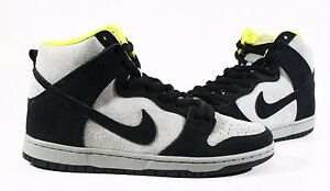 Nike Men's Shoes SB Dunk High Pro Black Base Grey Venom Green DS 305050-017