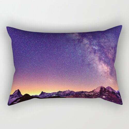 Moon Starry Sky Abstract Throw Cushion Cover Rectangle Pillow Case Home Decor