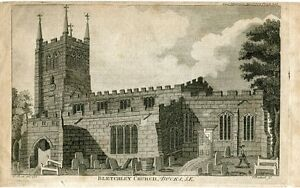 Bletchley-Church-IN-Bucks-Engraved-By-T-Prattent-Over-Artwork-Of-W-P-IN-1794