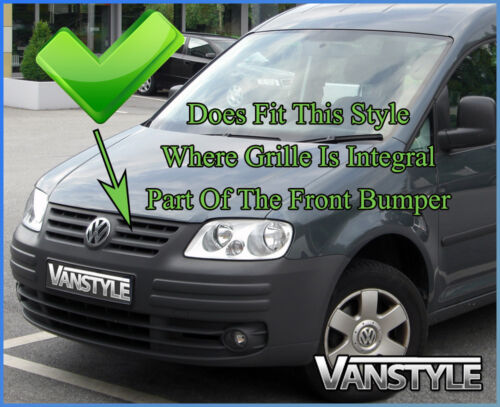 VW VOLKSWAGEN CADDY CHROME FRONT BUMPER CORNER TRIM COVERS STAINLESS 2003-2009
