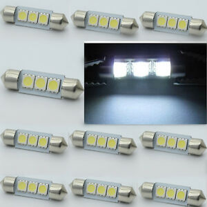 36MM-CANBUS-3-SMD-5050-LED-Luz-No-Error-Bombilla-matricula-Dome-Festoon-er
