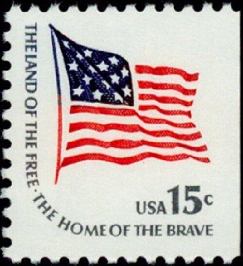 1978 15c McHenry Flag, Booklet Single Scott 1598 Mint F