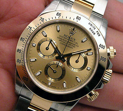 Rolex Cosmograph DAYTONA 116503 Mens Steel & Yellow Gold Champagne Dial 40MM