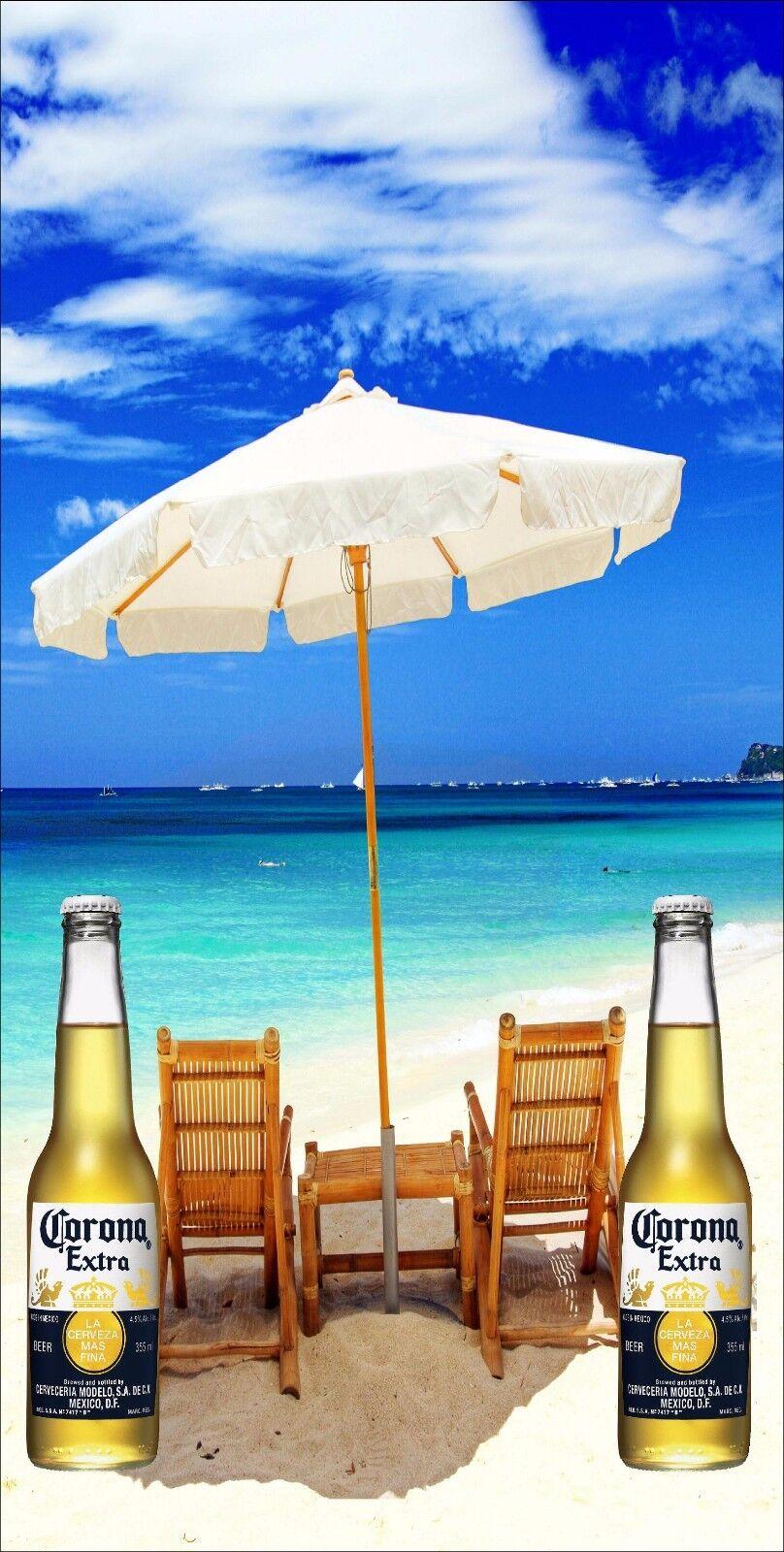Cgoldna Bottle on Beach Cornhole Baggo Bag Toss Board 3M Vinyl Wrap Set