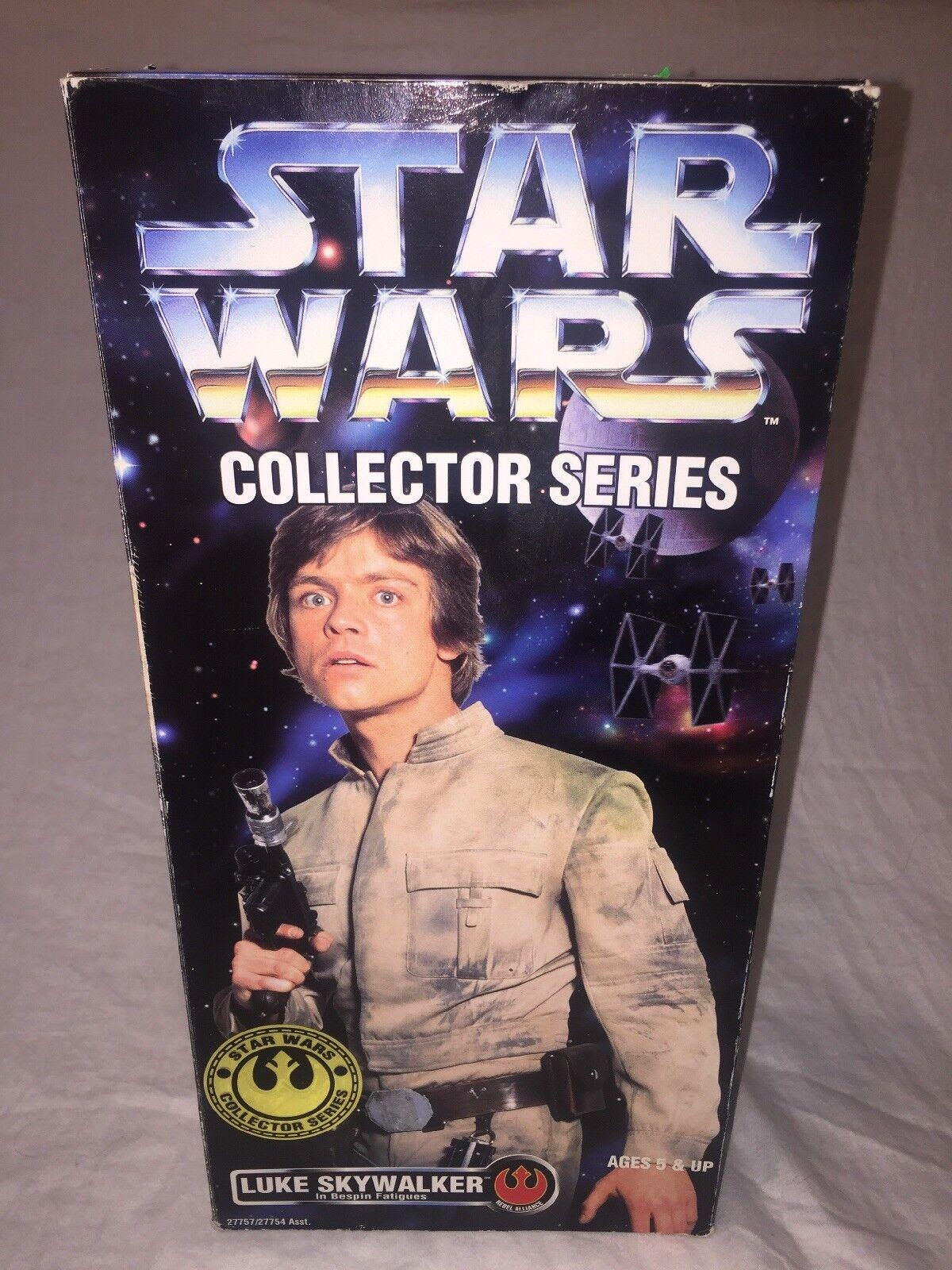 "STAR WARS New 1996 Luke Skywalker in Bespin Fatigues Collector Series 12"""