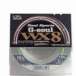 3216 12lb YGK P.E Linie G Soul WX8 150m P.E 0.8