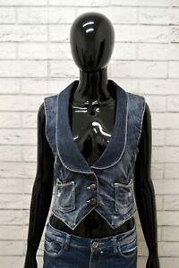 Giacca-Jeans-GUESS-Donna-Taglia-XS-Maglia-Giubbino-Giubbotto-Jacket-Woman-Blu
