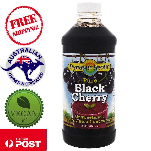 Dynamic Health Laboratories, Pure Black Cherry Juice, Unsweetened 473 ml - Vegan