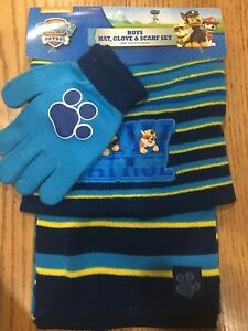 Paw Patrol Boys Winter 3pc Set Hat Gloves and Scarf
