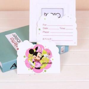 Detalles Acerca De Tarjeta De Invitación Minnie Mouse Fiesta Provisiones Set Para 10 Invitados Au Stock Mostrar Título Original