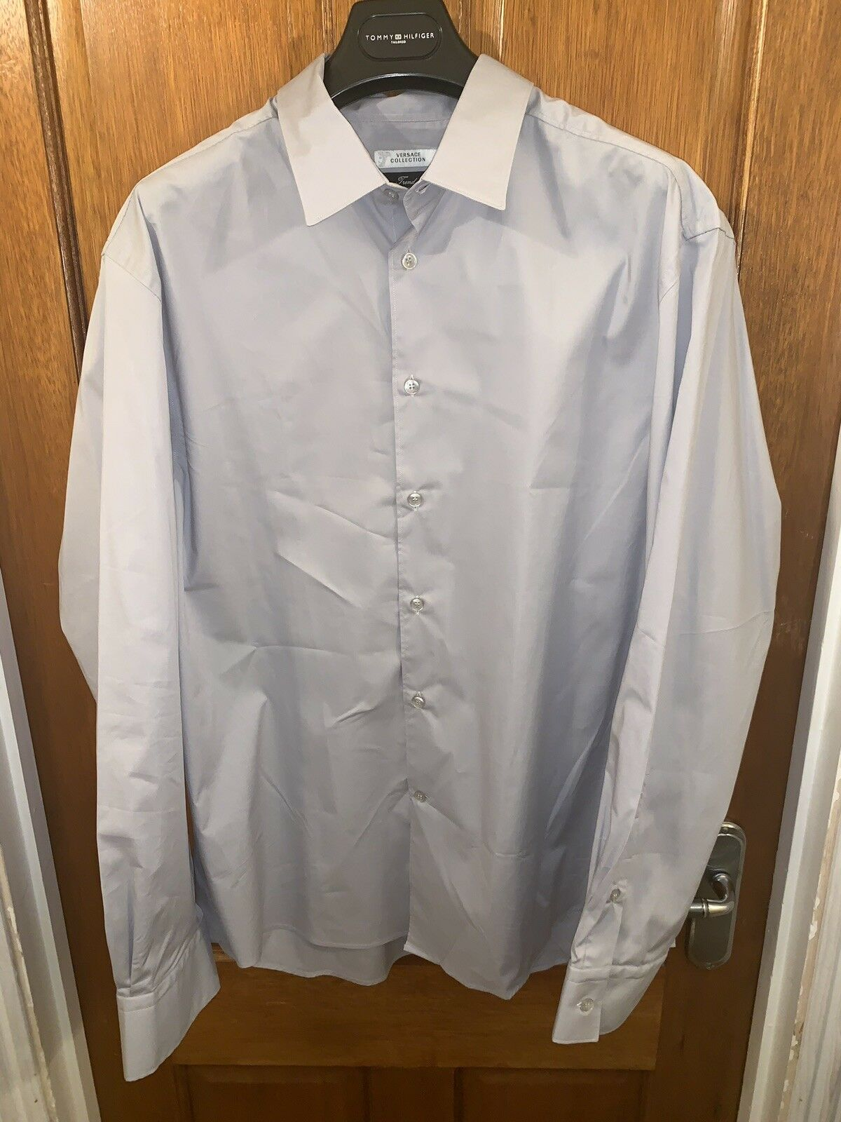 """Versace Collection 17"""" XL Mens Shirt Light Grey Brand New Without Tags"""