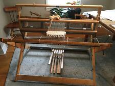 "Lillstina 4 Harness 45"" Floor Loom, Counterbalance, 6 Treadles, 3 Reeds"