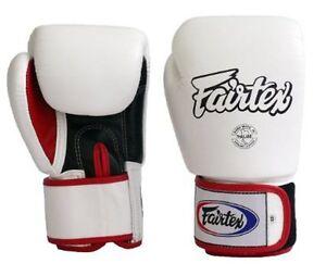 NEW! Fairtex Boxing Gloves BGV-1 - 18 oz - White - Muay Thai Kickboxing MMA UFC