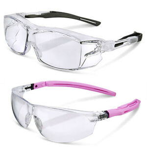 93ca13c8527 Clear Lens Comfort Fit Safety Cycling Glasses Goggles Mens   Womens ...