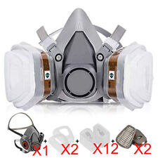 17 In1 Half Face Gas Mask Facepiece Spray Painting Respirator Safety Suit F 6200