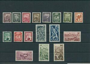 Germany-Saar-Saarland-vintage-yearset-1949-Mi-272-288-Mint-MNH-More-Shop