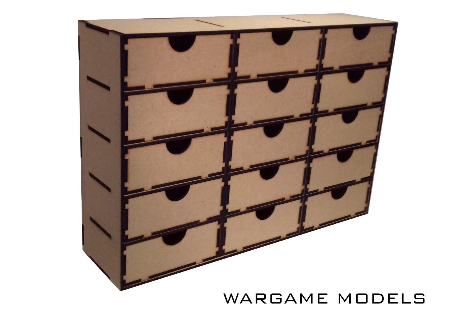 15 DRAWER STORAGE CABINET UNIT  FOR MODEL  WARHAMMER  ARTS & CRAFTS