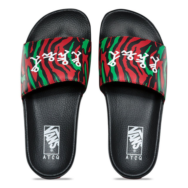 c9b56d6826 VANS Slide Sandals ATCQ a Tribe Called Quest Men s 13 Slides Shoes ...
