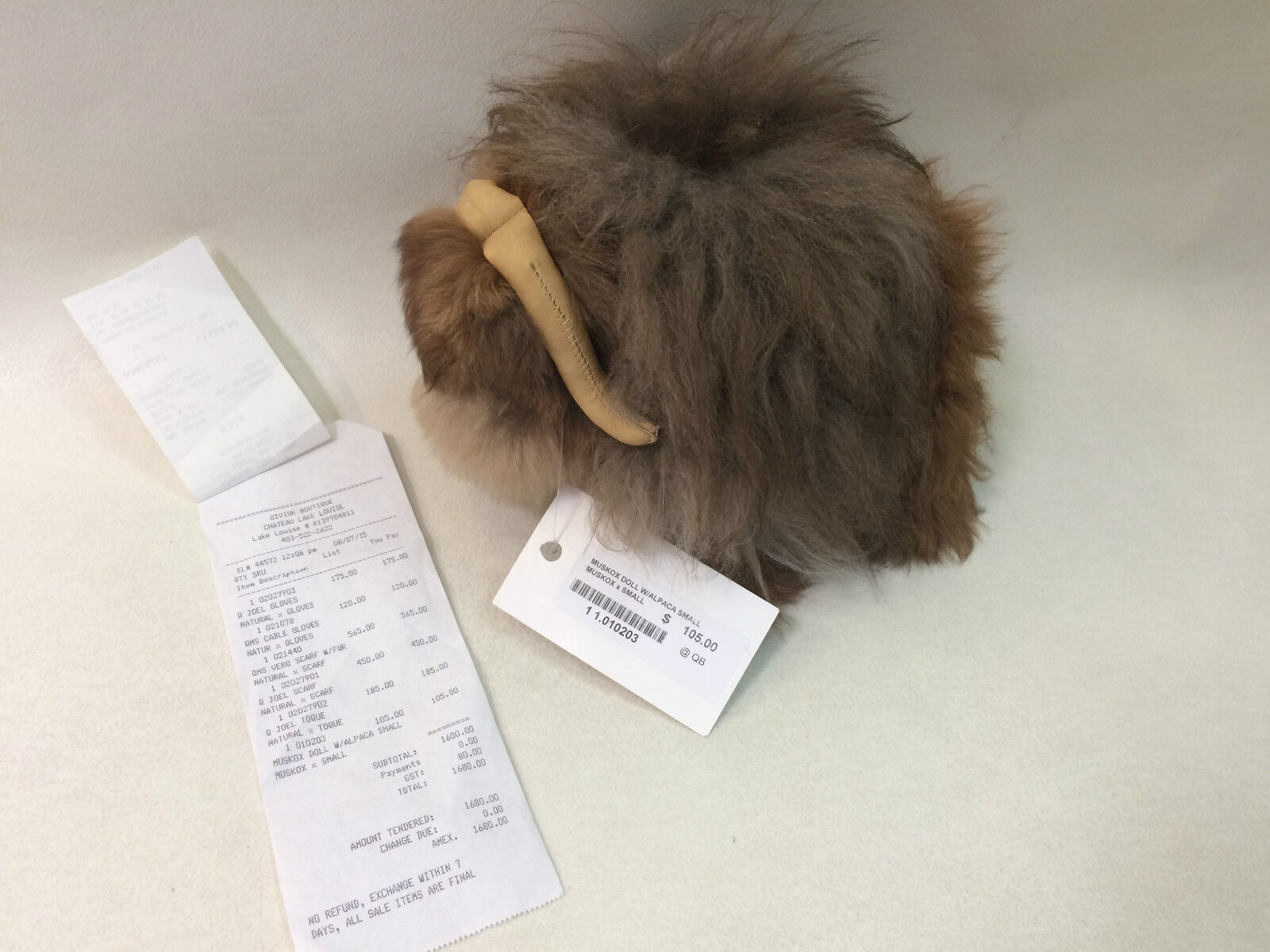 New With Tags Rare Qiviuk Boutique Muskox Doll