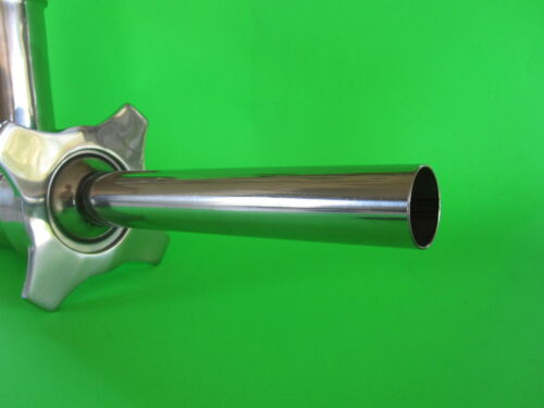 #22 Tube for stuffing Summer Sausage with meat grinder  Stainless Steel