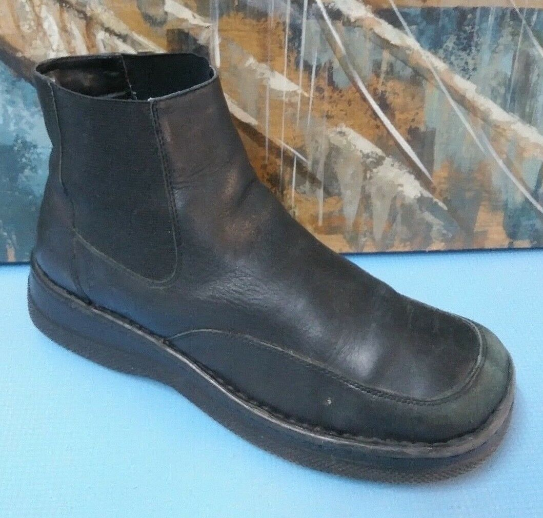 Eurostep Black Ankle Zip Up Boots Sz 10 M Style 23145-7