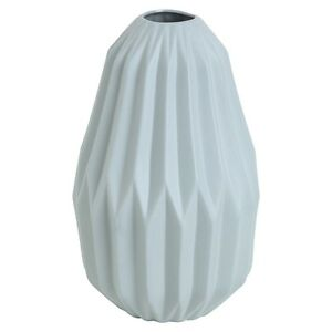 Geo-fluted-Vase-Blue-Peacock-geometric-design-trending-home-decor-perfect-gift