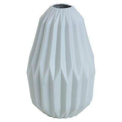 Geo fluted Vase Blue Peacock geometric design trending home decor perfect gift