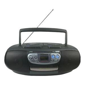 Vintage 1996 JVC Portable System RC-QW20  Dual Cassette CD Player AM/FM Boombox