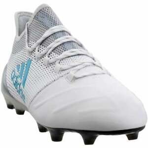 adidas-x-17-1-firm-ground-leather-Casual-Soccer-Cleats-White-Mens-Size-12-D