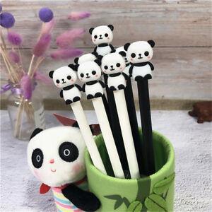 2Pcs-Cute-Cartoon-Panda-Gel-Pens-0-5mm-Black-Ink-Writing-Pens-Kawaii-Stationery