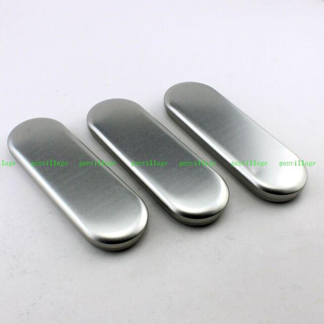 3pcs Storage Tin Plate Box Pencil Pen Case Glasses Holder Iron Metal Container