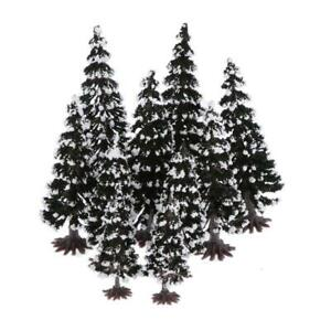 10-Lot-Snow-Pine-Trees-Train-Railroad-Architectural-Scenery-N-HO-TT-Scale