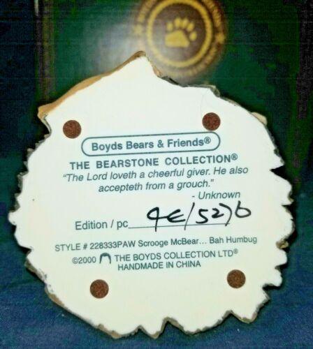 Boyds Bears Scrooge McBear.. Bah Humbug #228333PAW NIB