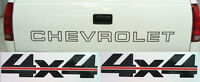Chevrolet Curly C Tailgate/square 4x4 Bedside Decal Kit