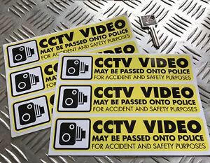 CCTV-VIDEO-DASH-CAM-STICKER-SET-police-safety-x6-car-stickers