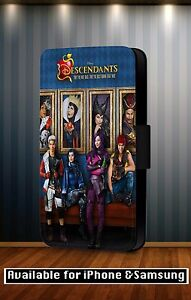Descendants-Disney-All-Characters-Poster-Faux-Leather-Flip-Phone-Case-Cover-Y217