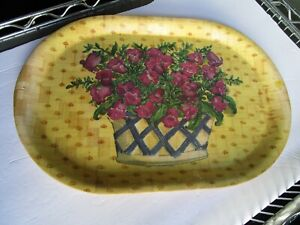 Woven-Pressed-Bamboo-Summer-Serving-Tray-Platter-Plate-Flower-Basket-Design
