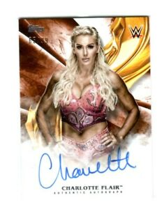 WWE-Charlotte-2019-Topps-Undisputed-Orange-On-Card-Autograph-SN-65-of-99