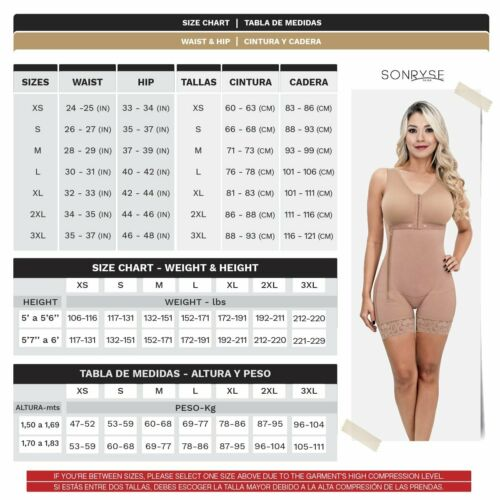 Sonryse  Tummy Control Zip Girdle for Women Ref 053