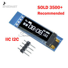 "0.91"" IIC I2C 128x32 White OLED LCD Display Module For Arduino PIC"