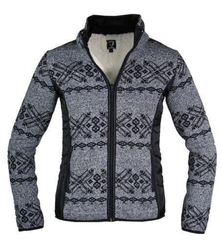 Horka Norvège Paisley Femmes Hiver Chaud Sherpa Polaire Nordique Fermeture Éclair nouveau sweater
