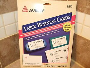 Avery 5371 100 laser business cards 2 x 3 12 make your own image is loading avery 5371 100 laser business cards 2 034 reheart Choice Image