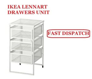 IKEA-LENNART-3-DRAWER-UNIT-WITH-CASTORS-IDLE-FOR-OFFICES-AND-HOME-STORAGE