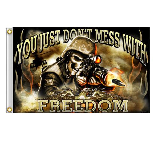 Große Biker Army Soldier Skull Totenkopf Armee Freedom Eagle Flagge Fahne Banner
